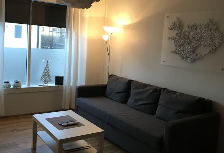 Svítan Guesthouse & Apartments, Reykjanesbær, Lägenhet Deluxe - 1 sovrum, Vardagsrum