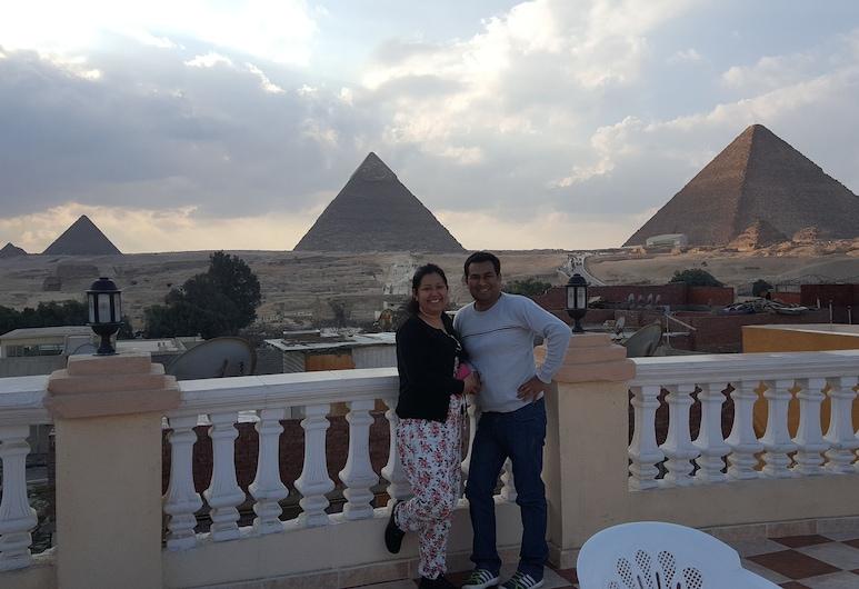 Royal pyramids Inn, Giza, View from Hotel