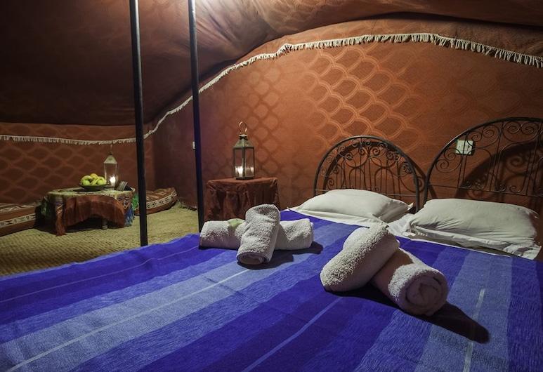 Bivouac Le Nomade camp, M'Hamid al Gizlanas, Standartinio tipo palapinė, 3 viengulės lovos, Kambarys