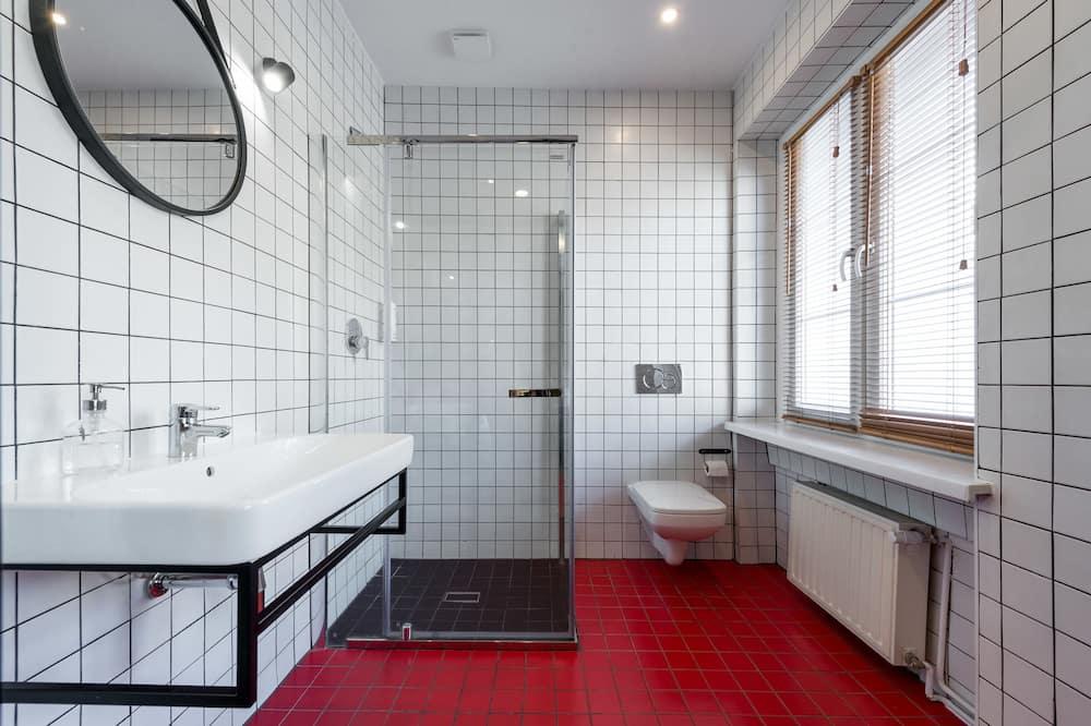 Standard-Zweibettzimmer, 1 Schlafzimmer, eigenes Bad, Stadtblick - Badezimmer