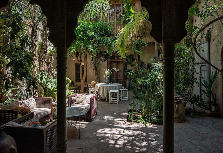 Riad Kbour & Chou, Marakešas, Romantiško stiliaus dvivietis kambarys, Terasa / vidinis kiemas