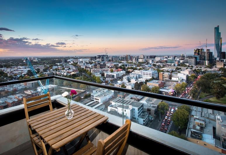 Spencer Street Apartments, מערב מלבורן, דירת סופריור, מספר מיטות, מרפסת, נוף לנמל, מרפסת