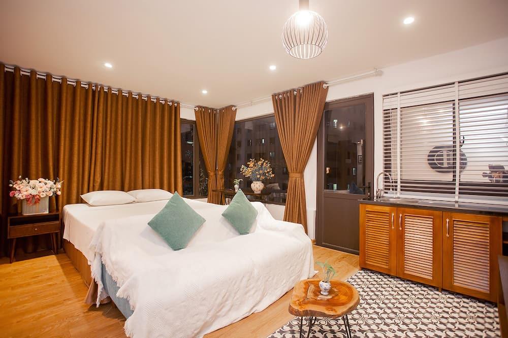 Signature-Suite, 1King-Bett, Terrasse, Stadtblick - Wohnzimmer