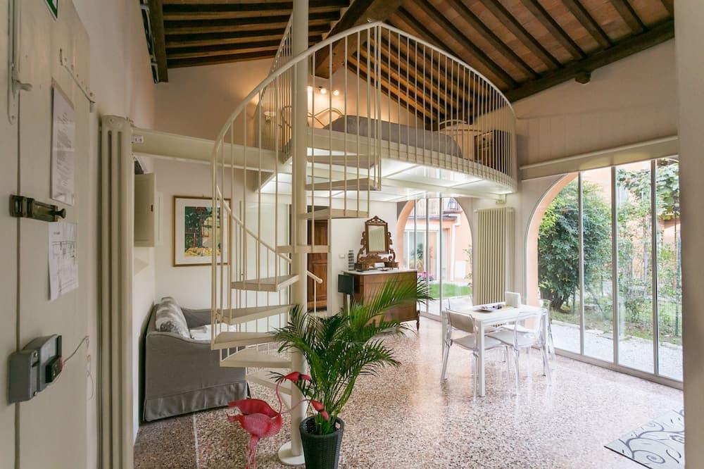 Apartment, 1 Bedroom, Garden View (Limonaia) - Living Area