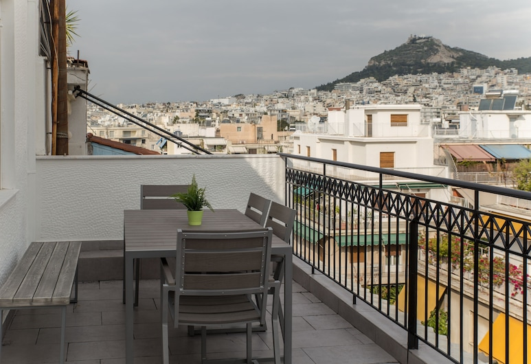 Olympus Residence, Athen, Deluxe-Penthouse, 4 Schlafzimmer, Terrasse, Stadtblick, Terrasse/Patio