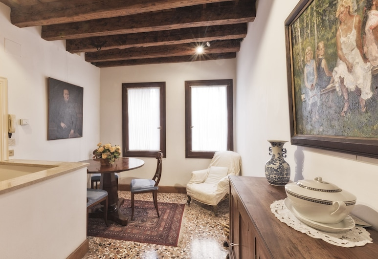 Palazzetto San Lio, Veneza, Apartamento clássico, 1 quarto, Área de estar