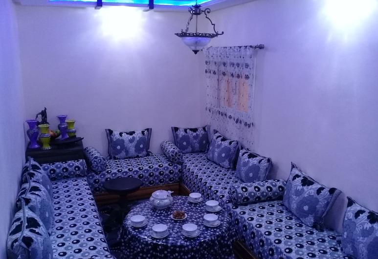Dar Doukkala, Oualidia, Family Apartment, 1 Bedroom, Living Area