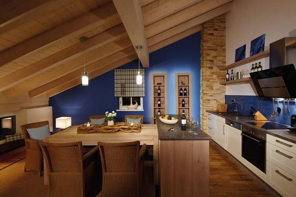 Luksus-lejlighed - 2 soveværelser - sauna (Bergwasser) - Spisning på værelset