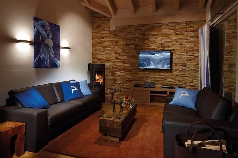 奢華公寓, 2 間臥室, 桑拿 (Bergwasser) - 客廳