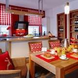 奢華公寓, 3 間臥室, 桑拿 (Alpenfeuer) - 客房內用餐