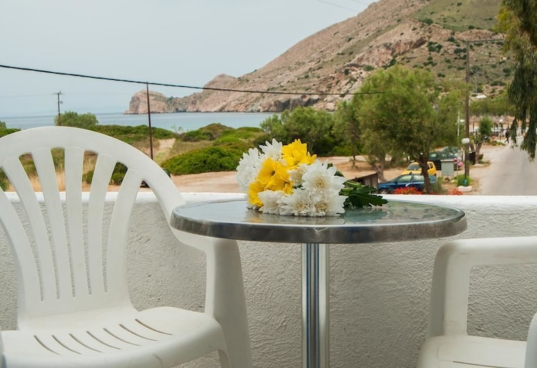 Manousos' Rooms, Syros, Double or Twin Room, Sea View, Balkoni