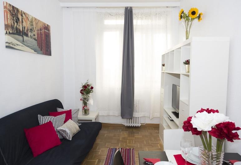 أوشون جران فيا, مدريد, شقة - غرفة نوم واحدة - منظر للمدينة, غرفة معيشة