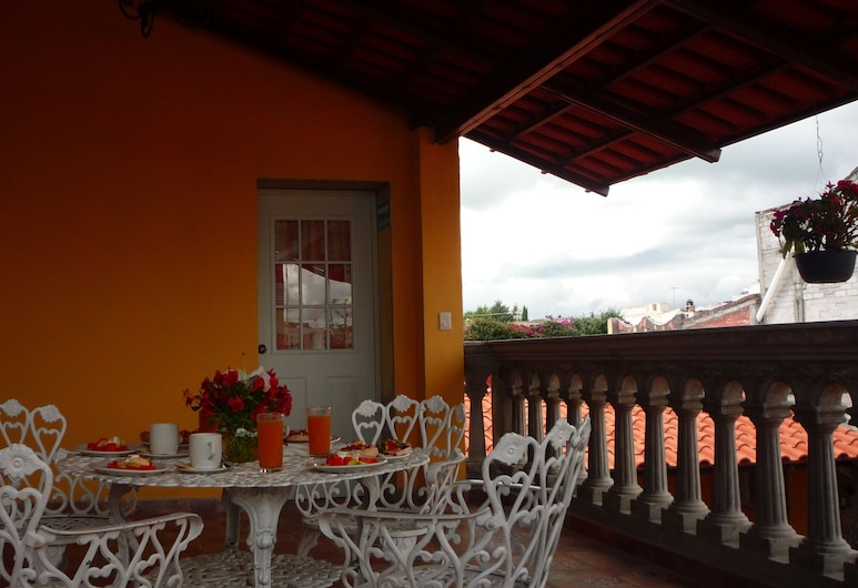 Hostal Quinto Sol, Huamantla, Terraza o patio