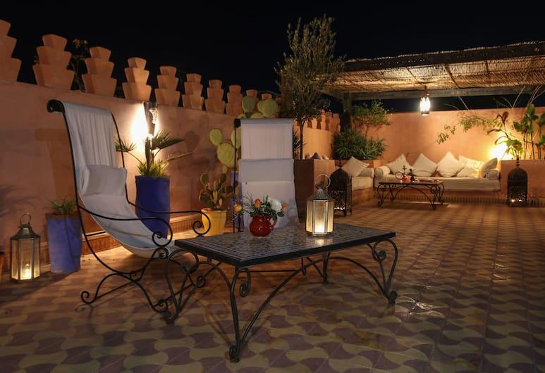 Riad Si Amarra, Marrakech, Tomannsrom – standard, flere soverom, delt bad, Terrasse/veranda