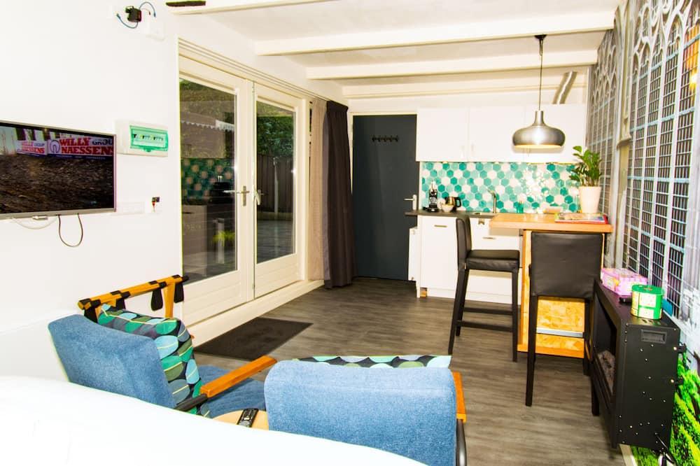 Suite estudio junior, 1 cama Queen size, para no fumadores, cocina - Sala de estar