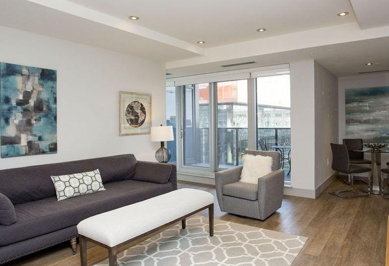 Moore Suites - The Mary Ann, Halifax, Executive sviit, 2 magamistoaga, köögiga, asukoht Executive tiivas/korrusel, Elutuba