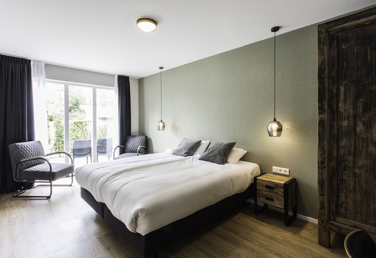 Rijksmonument Hotel de Sprenck, Middelburg, Quarto Duplo Deluxe, Terraço, Quarto