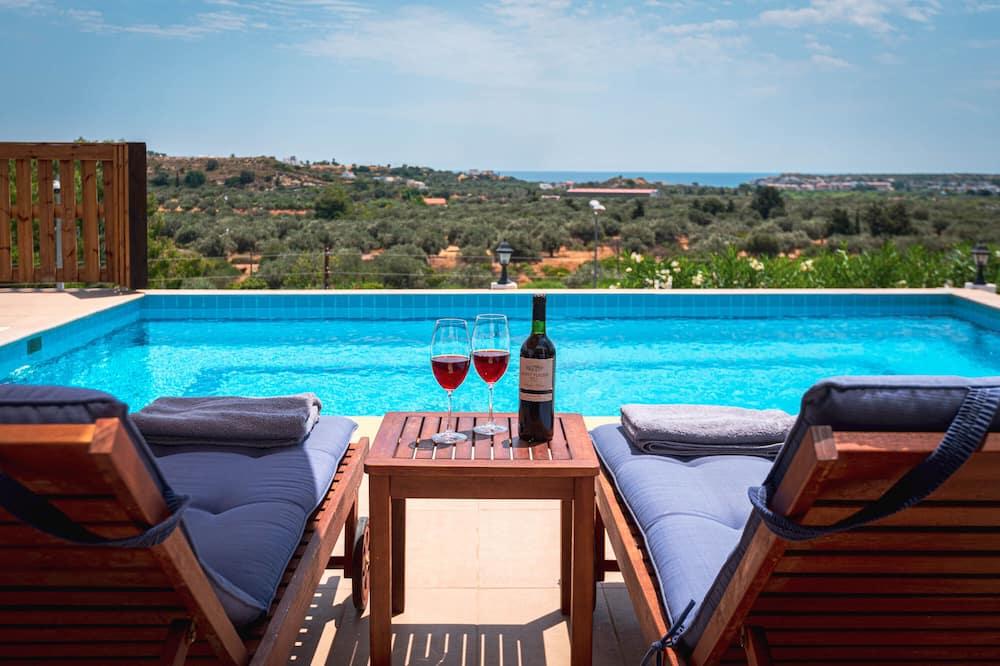 Suite Deluxe, 2 chambres, piscine privée, vue montagne - Vue sur l'eau