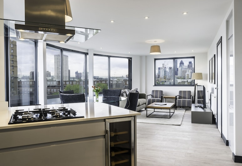 Stay Inn Apartments City Aldgate, London, Katusekorter, 2 magamistoaga, Lõõgastumisala