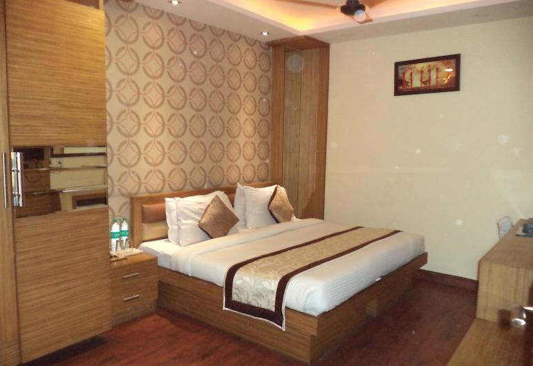 Hotel Kochar Plaza, Nuova Delhi, Camera Deluxe, 1 letto king, non fumatori, vista città, Camera
