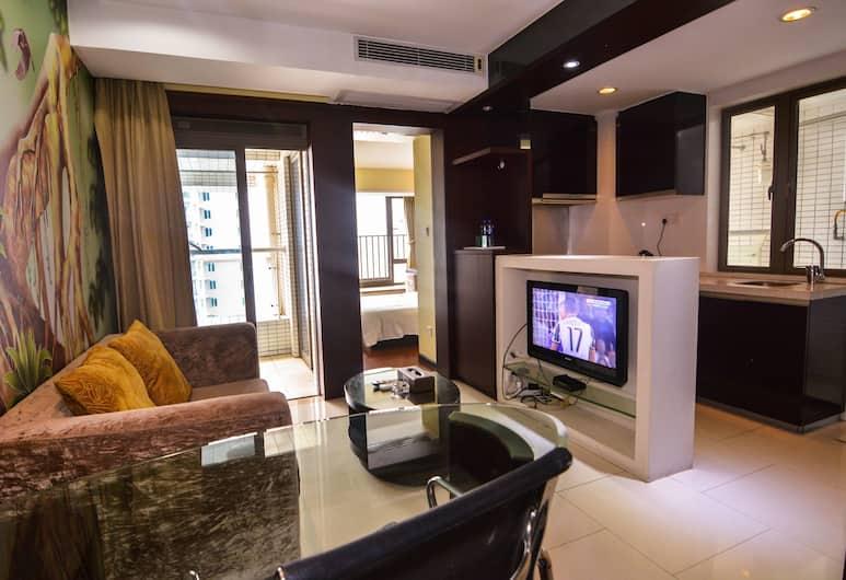 寓米公寓 - 廣州小蠻腰珠江新岸店, 廣州市, 豪華套房, 客廳