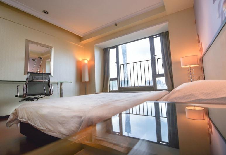 YUMI Apartment Canton Tower Branch, Guangzhou, Quarto Duplo, Vista Rio, Quarto