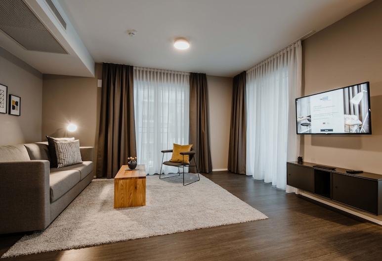 تايم هاوس, ميونيخ, شقة بريميم - غرفة نوم واحدة (EXCLUSIVE), منطقة المعيشة