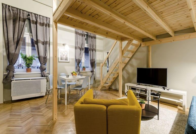 Cumin Apartments, Budapest, Lägenhet - 1 sovrum (Green Cumin), Vardagsrum