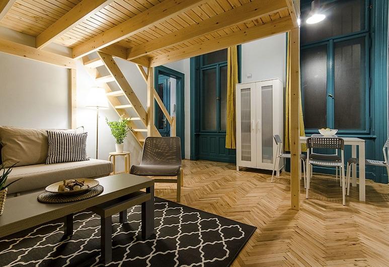 Lime and Mint Apartments, Budapešť, Apartmán, 1 spálňa (Lime), Obývacie priestory