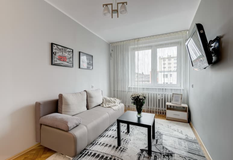 Elite Apartments City Center Podwale, Gdansk, Štandardný apartmán, Obývačka
