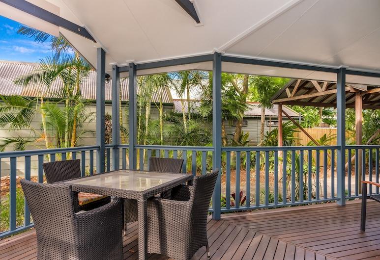 Barefoot Lane, Byron Bay, Casa familiar, 3 habitaciones, vistas al jardín, Terraza o patio