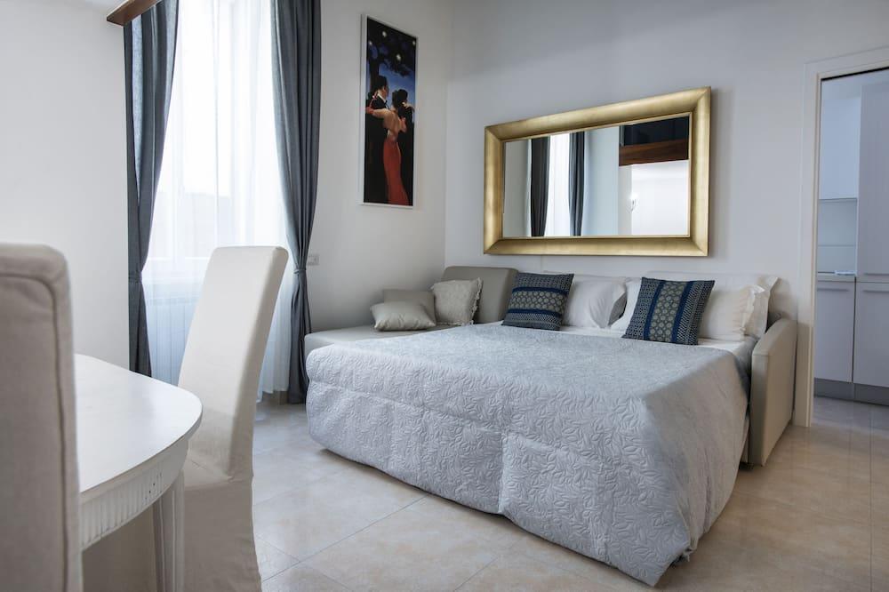 Deluxe-Apartment, 2Schlafzimmer, Terrasse, Stadtblick - Wohnbereich