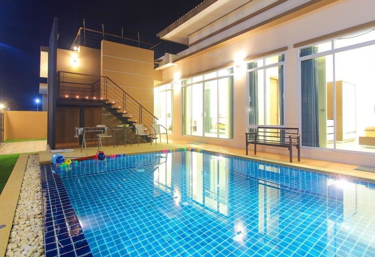喬姆香之家泳池別墅酒店, Hua Hin, 3-Bedroom Villa with Private Pool, 陽台