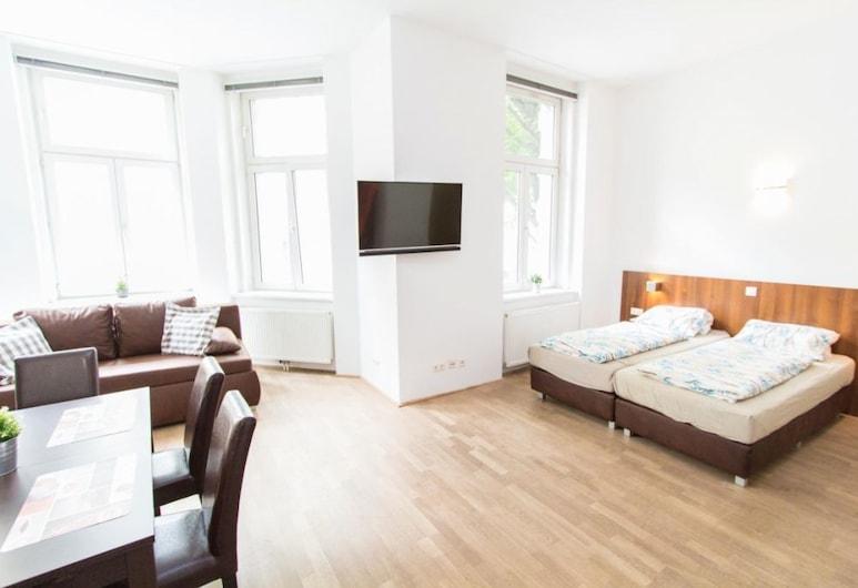 Leonhard Apartments Vienna, Wien, Classic-Apartment, 1 Schlafzimmer, Erdgeschoss, Zimmer