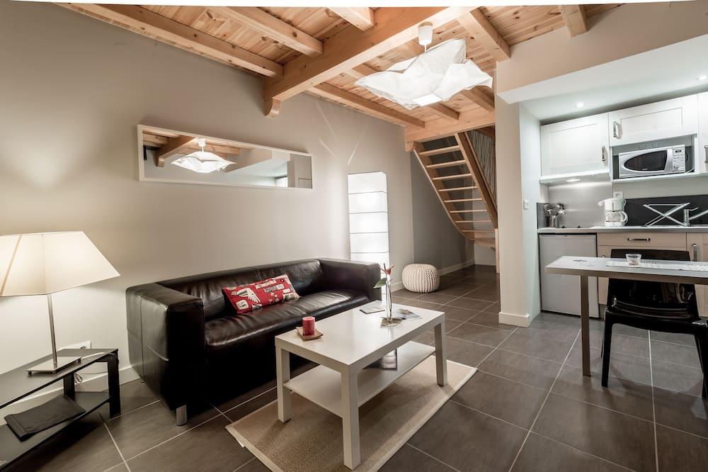 Comfort suite, 1 slaapkamer, uitzicht op bergen - Woonruimte