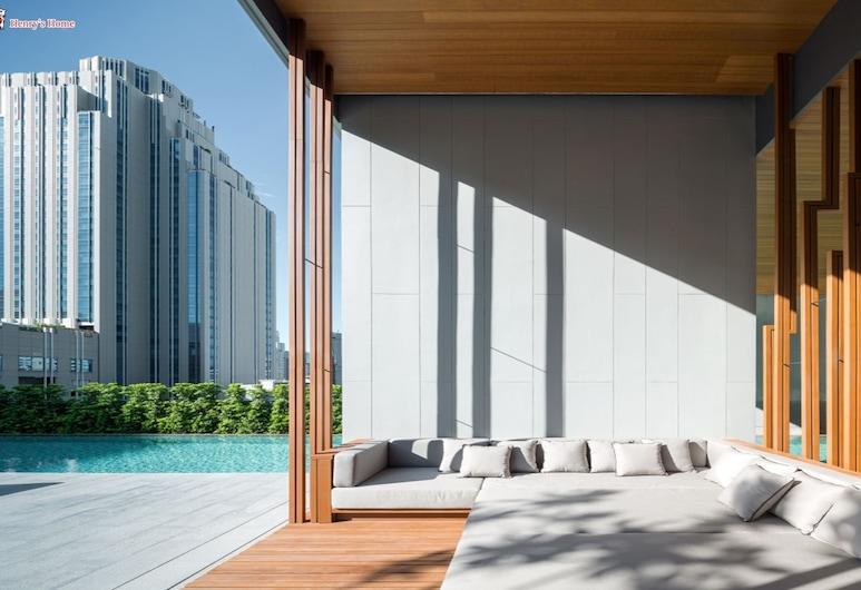 Cozy One Bedroom Condo in Nana Asoke, Bankokas, Terasa / vidinis kiemas