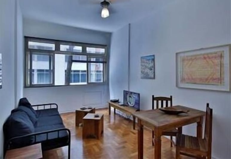 GoHouse Gastao 101, Rio de Janeiro, Standard apartman, 2 hálószobával, Nappali
