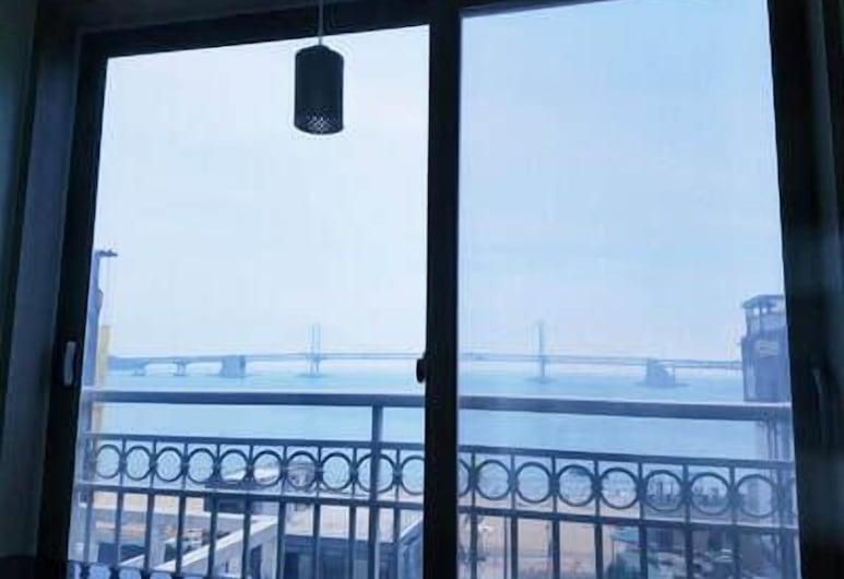 Maritimo Pension, Busan, Familienapartment, 2Schlafzimmer, Meerblick, Meerseite, Ausblick vom Zimmer