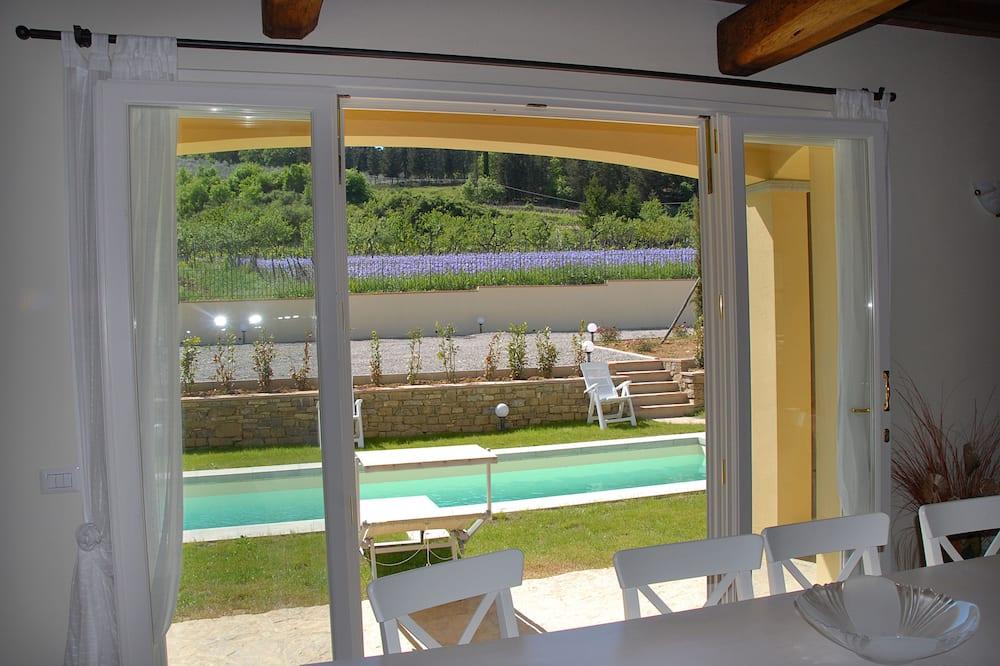 Villa Deluxe, 5 chambres, piscine privée, vue jardin - Coin séjour
