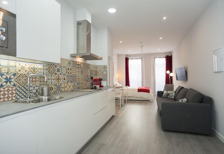 Algo Diferente Apartamentos, Córdoba, Loftsværelse - 1 dobbeltseng med sovesofa, Opholdsområde