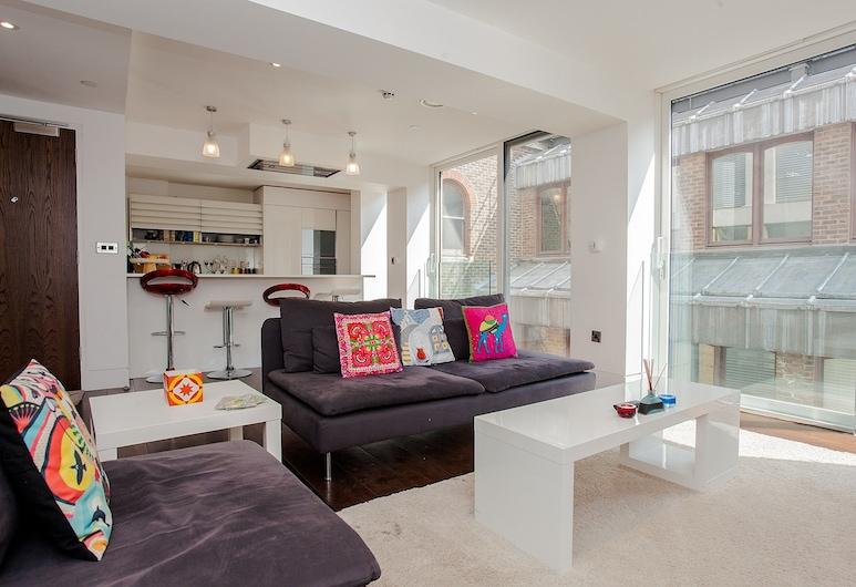 班克精致 2 房公寓酒店, 倫敦, 公寓, 2 間臥室, 客廳