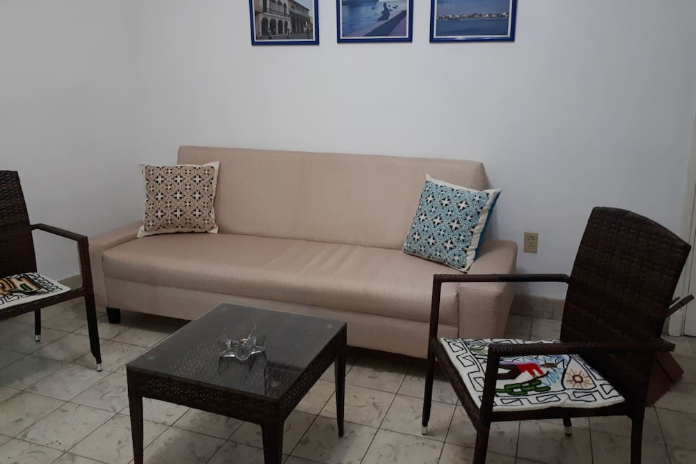 슈피리어 아파트, 더블침대 1개 및 소파베드, 금연 - 거실