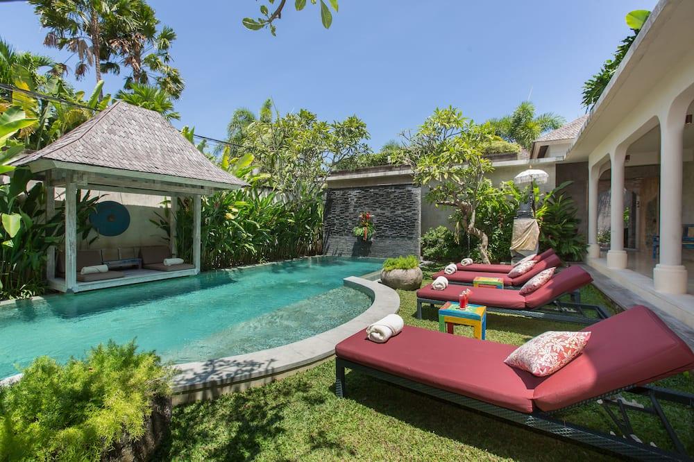 Luxury-Villa, 2Schlafzimmer, eigener Pool, Gartenblick - Pool