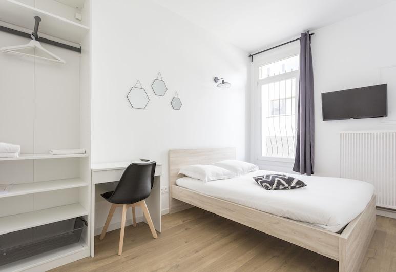 Coeur Urbain Bedrooms - Centre-ville, Montpellier, Chambre Double Ville, salle de bains commune (3), Chambre