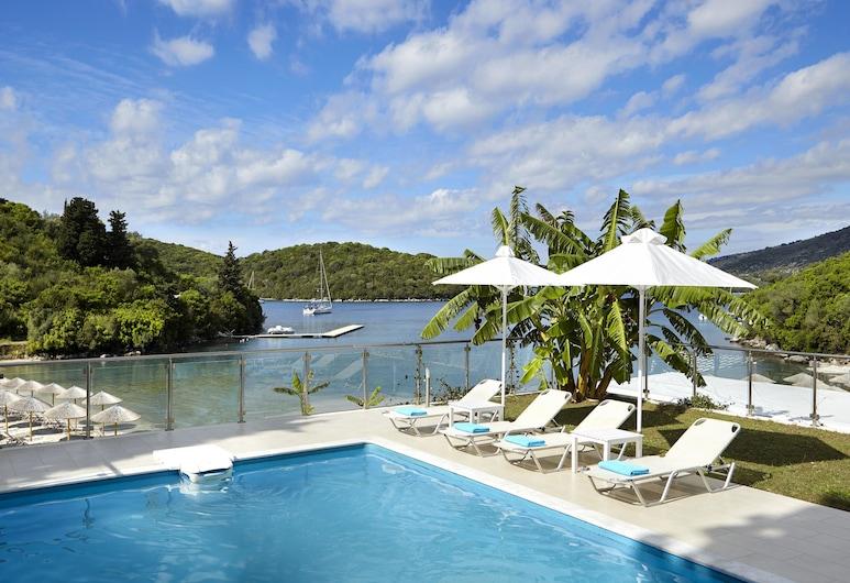 Karvouno Villas, Igoumenitsa, Villa Premier, 2 habitaciones, piscina privada, vista a la playa, Alberca al aire libre