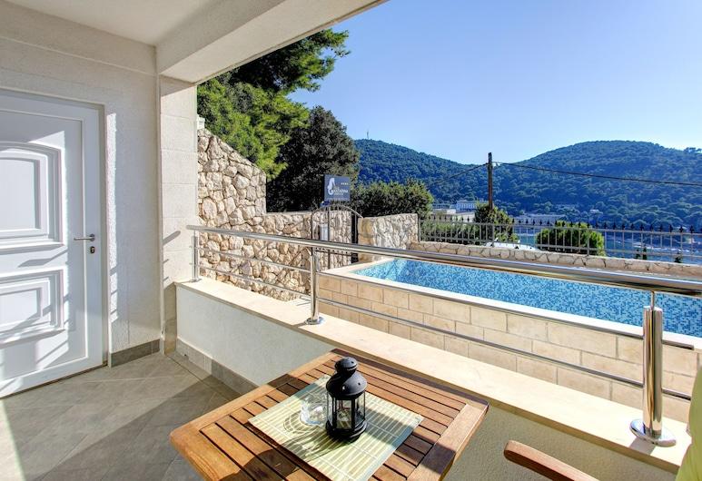 Villa Katarina 3, Dubrovnik, Apartamento premium, 1 quarto, Sacada, Vista para o mar, Terraço/pátio