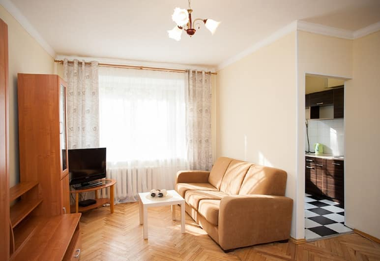 Inndays Belorusskaya, Moskwa, Apartament, 1 sypialnia, Salon
