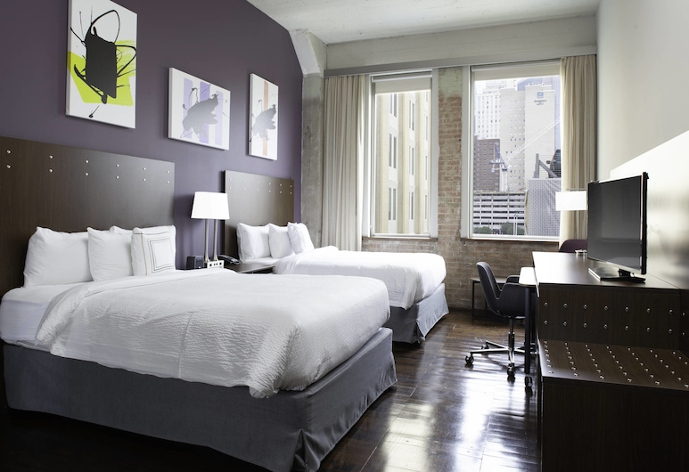 Fairfield Inn & Suites by Marriott Dallas Downtown, Dallas, Studio, Meerdere bedden, Kamer