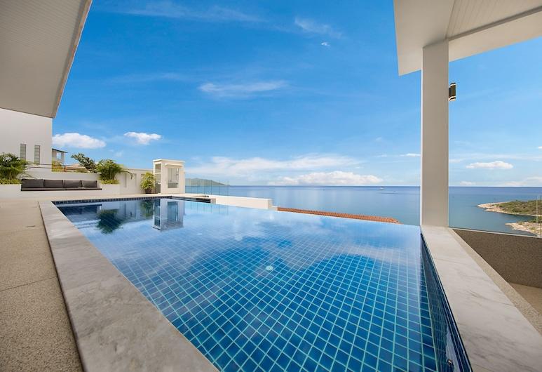 海灘景觀別墅酒店, 蘇梅島, 奢華別墅, 5 間臥室, 海景, 陽台