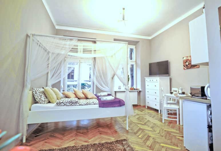 オーケー ホーム アパートメンツ, クラクフ, エコノミー アパートメント クイーンベッド 1 台ソファーベッド付き (HOME A), 部屋